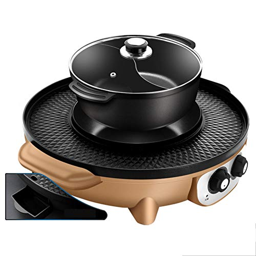 Multi-Function Electric Teppanyaki Table Top Barbecue Nonstick Grill Griddle BBQ Extra Large Griddle Electric for Camping Indoor Outdoor (Size : B)