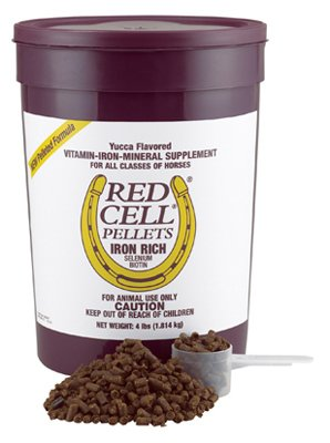 Central Garden & Pet 100506701 Red Cell Horse Vitamin & Mineral Pellets, 4-Lbs. - Quantity 4