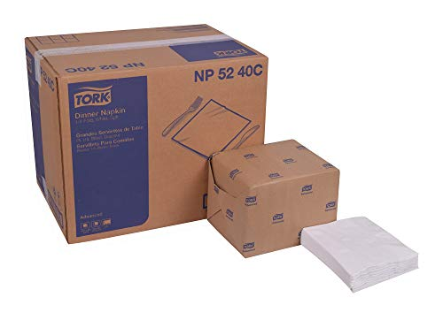 Tork Advanced NP5240C Soft Dinner Napkin, 1/4 Fold,