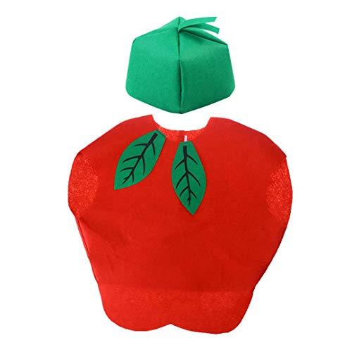 La moriposa Unisex Kids Halloween Pumpkin Strawberry Apple Watermelon Tree Costume Dress Set Fruits Costume Suit with ()