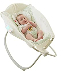 Fisher-Price Deluxe Auto Rock 'n Play Sleeper with SmartConnect, Green/White BOBEBE Online Baby Store From New York to Miami and Los Angeles