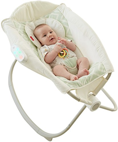Fisher-Price Deluxe Auto Rock 'n Play Sleeper with SmartConnect, Green/White ()