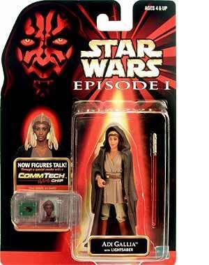 STAR WARS EPISODE I ADI GALLIA with LIGHTSABER COMMTECH CHIP ()