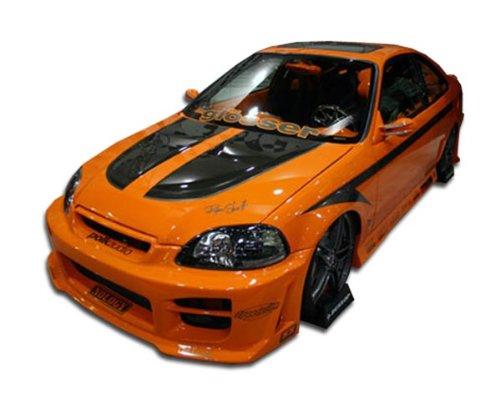 Duraflex ED-SJN-556 R34 Body Kit - 4 Piece Body Kit - Compatible For Honda Civic 1999-2000 - Honda Civic Ground Effects Body
