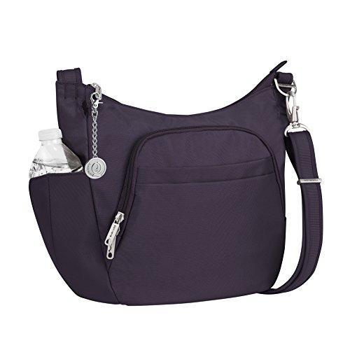 Classic Crossbody Bucket Bag, Handbag and Metal Charm Keychain ()
