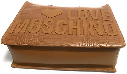 Moschino Borsa donna Love shopping ecopelle stampa cocco cammello B21MO70