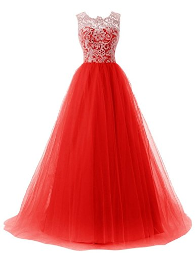 Quinceanera Prom Dress Red 2016 Dresses Gown Fanciest Ball Lace Women's Long wH8q8I