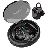 Wireless Earbuds, Bluetooth 5.0 True Wireless Headsets HD Stereo Sound in-Ear Headphones, 15H Playtime, Built-in Microphone, Sweatproof Sport Bluetooth Earphones for Gym/Running with Charging Case
