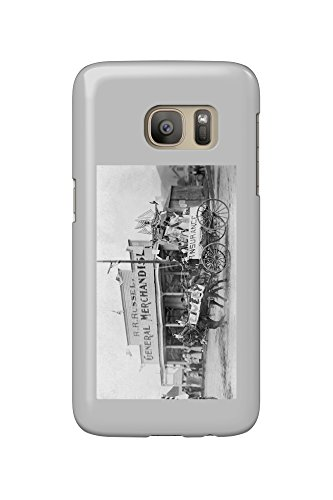 Bridgeport, Washington - Exterior View of R. R. Russel General Store Fourth of July (Galaxy S7 Cell Phone Case, Slim Barely - Stores Bridgeport