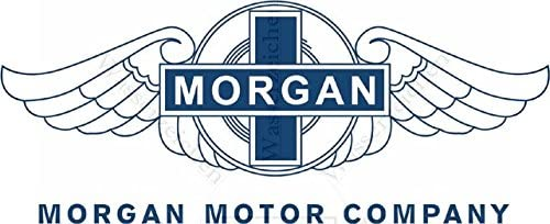 Morgan-Logo-blau AB044 UV/&Waschanlagenfest Auto-Vinyl-Sticker Decal-bunt-Profi Qualit/ät 15cm Folien-Aufkleber Wetterfest Made IN Germany kompatibel f/ür