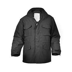 M65 Army surplus jacket / us army jacket / vintage / stonwashed (black, Medium)