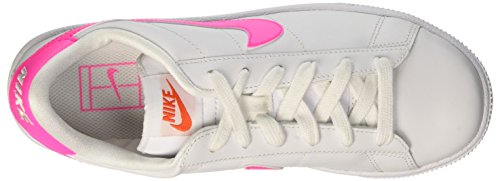Nike Wmns Tennis Classic, Zapatillas de Deporte Para Mujer Blanco (White / Pink Blast-Team Orange-Black)