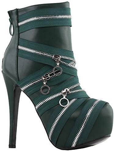 Details about  /Women/'s Block High Heel Zip Up Round Toe Knee High Boots Outdoor Gothic Pumps D