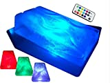 """King Luge -- The HUGE """"No Mess"""" Dual-Track Ice Luge Mold (w/ LED Tech Package)"""