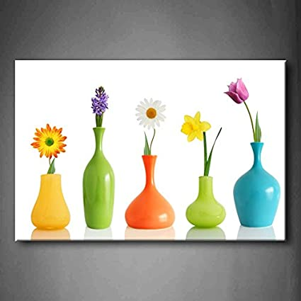 Amazon Fresh Look Color Spring Colorful Flowers In Vases