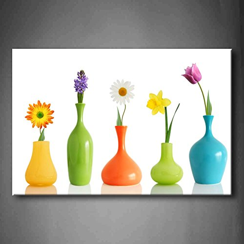 Flower In Vase Canvas Wall Art Amazon