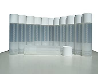 ALINCAS Lip Balm Empty Container Tubes, Translucent, 3/16 Oz (Pack of 25)