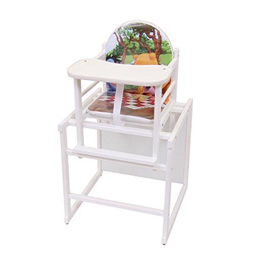 Kinderhochstuhl Kombihochstuhl Babyhochstuhl Hochstuhl Tisch Holz 6 TOP DESIGNS Weiß