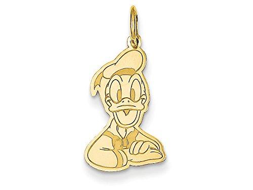 14kt Bracelet Slide Charm (Disney Donald Duck Charm 14kt)