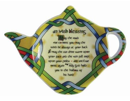 Lowest Prices! Tea Bag Holder Tea Set Accessory Irish Blessing by Clara