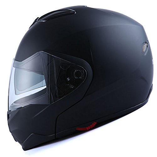 1Storm Motorcycle Street Biker Modular/Flip Up Dual Visor/Sun Shield Full Face Helmet