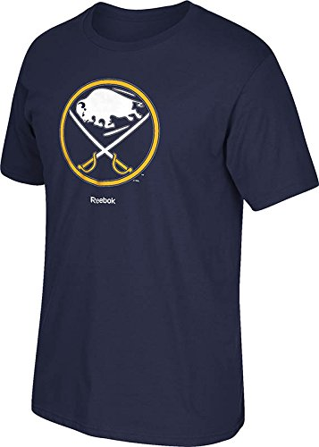 NHL Buffalo Sabres Men's Jersey Crest Tee, Small, Navy for sale  Delivered anywhere in USA