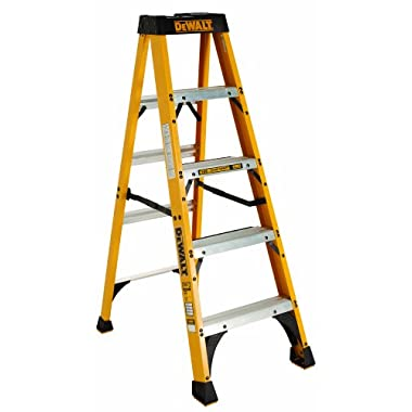 DeWalt DXL3010-05 5-Feet Fiberglass Stepladder Type IA with 300-Pound Duty Rating, 5-Feet