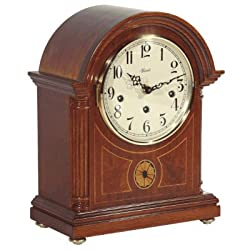 Hermle Black Forest Clocks Barrister Styled Mechanical Operated Mantel Clock in Mahogany