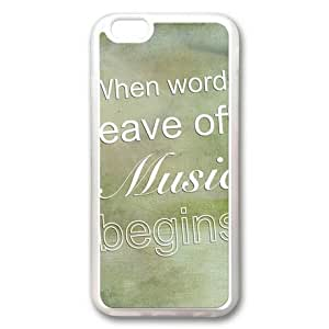 iphone 4 4s Case, Graphic Quotes About Music Custom Case for iphone 4 4s Soft TPU Material Transparent