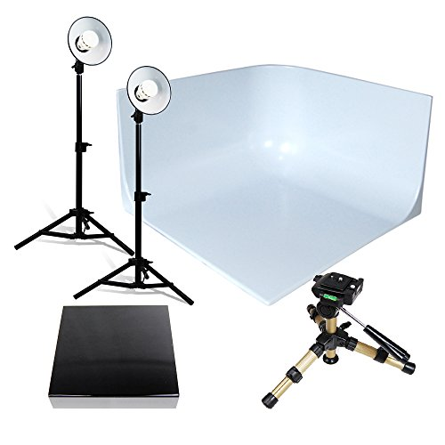 LoadStone Studio Photographic Continuous Output Lighting Kit, Black, White, Silver, Gold (V-PL1024) by LoadStone Studio