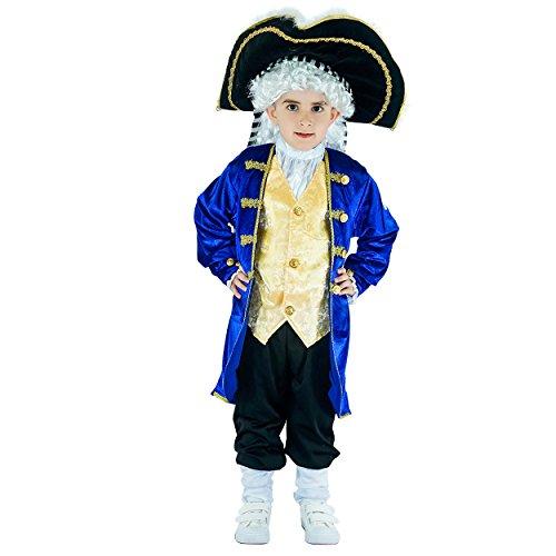 Boy's Colonial General Medieval Nobel Costumes(4-6Y)