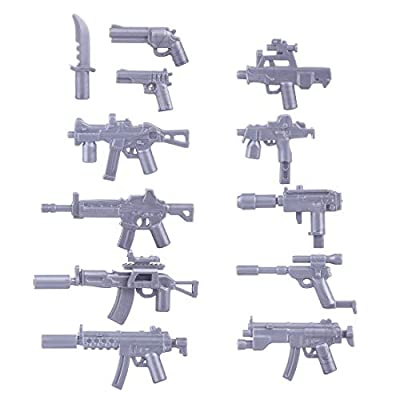RAVPump Custom Military Army Weapons and Accessories Set for Minifigures Building Blocks Figures - Compatible Major Brands: Toys & Games