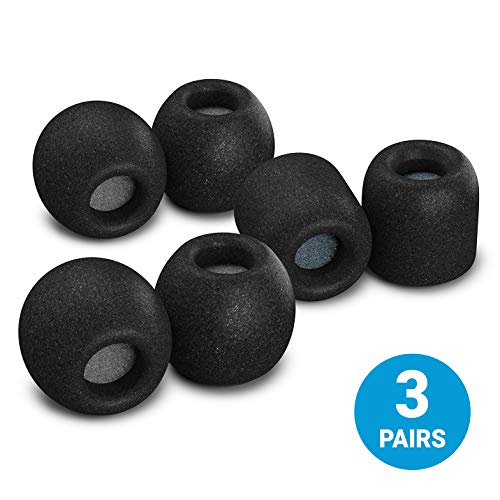 Comply SmartCore Variety Pack Premium Memory Foam Earphone Tips, Fits Most Earphones, Noise Cancelling Soft Earbud Tips Conform to Your Ear for A Comfortable Secure Fit (Medium, 3 Pairs)