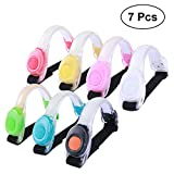 VORCOOL LED Light Armband Reflective Adjustable Wearable Silicone Running Belt Strap for Running Walking Cycling Camping Pack of 7