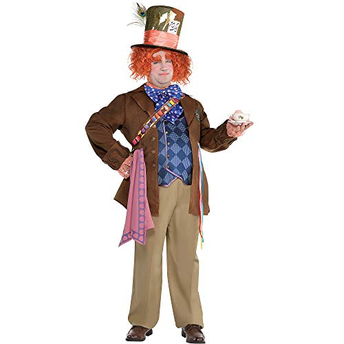 SUIT YOURSELF Alice Through The Looking Glass Mad Hatter Costume for Adults, Plus Size, Includes a Jacket with Vest -