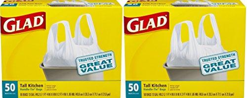 Glad Tall Kitchen Handle- yCblLn Tie Trash Bags, 13 Gallo...