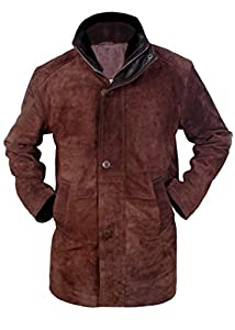 Flesh & Hide F&H Men's Sheriff Walt Longmire Robert Taylor Genuine Leather Coat