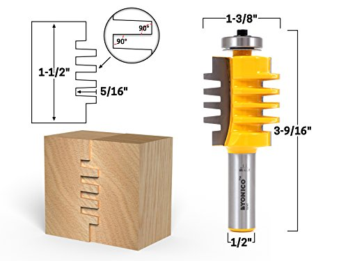 (Yonico 15141 1-1/2-Inch Easy Setup Finger Joint Router Bit 1/2-Inch Shank)