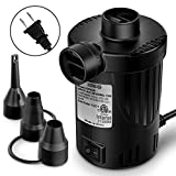 OutdoorMaster Electric Air Pump - Portable OP420 0.64 PSI for Air Mattress & Inflatables, Raft, Pool, Bed, Toy, Yoga Ball, Quick-Fill Inflation & Deflation AC Pump with 3 Nozzles - 110-120 Volt