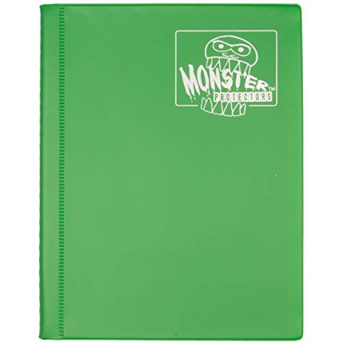 Monster 4 Pocket Trading Card Binder - Matte Emerald Green Album - Holds 160 Yugioh, Magic, and Pokemon Cards