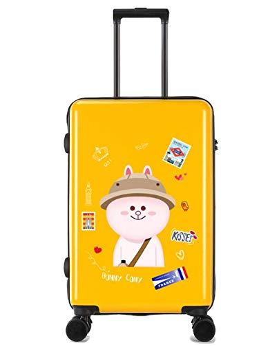 ShiMin 24インチスーツケース小さな新鮮な大学生のトロリーユニバーサルホイールスーツケース (Color : Yellow)  Yellow B07MSBJGVJ