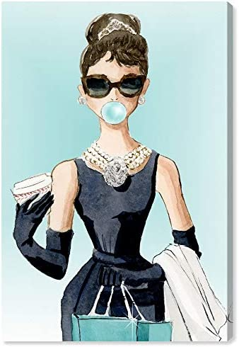 The Oliver Gal Artist Co. People and Portraits Wall Art Canvas Prints 'Bubble Gum and Diamonds' Home D cor
