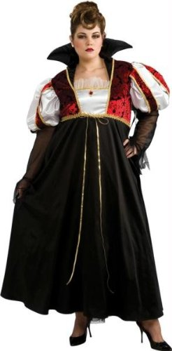 Plus Size Vampiress Halloween Costumes (Rubie's Costume Co. Women's Plus Size Royal Vampira Costume, As Shown, One Size)