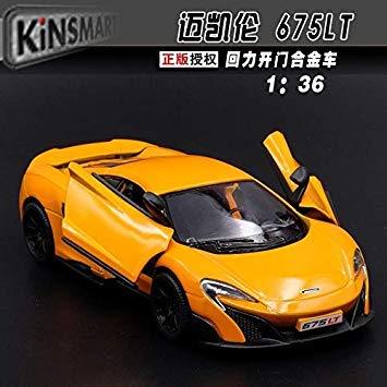 High Simulation 1 36 McLaren P1   675LT,Alloy Pull Back Model Cars,Two Door Sports car, 11