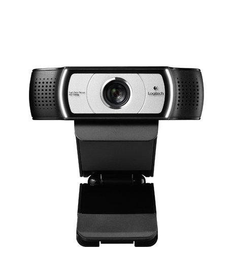 Logitech C930 HD-Webcam (1080p und USB-Anschluss) schwarz/silber