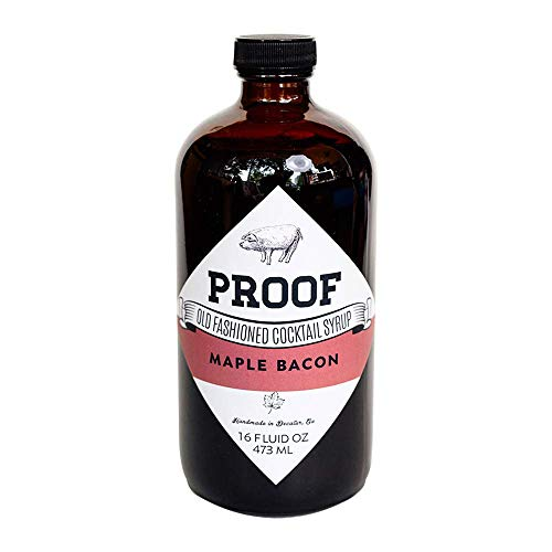 Proof Syrup - Maple Bacon Flavored - Old Fashioned Cocktail Mixer - 16oz - Make A Perfect Maple Bacon Cocktail Every Time With No Bitters Or Simple Syrup