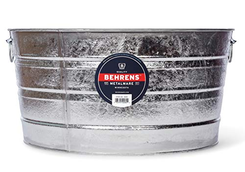 Behrens 2, 15-Gallon Round Steel Tub (Metal Large Tubs Drinks For)