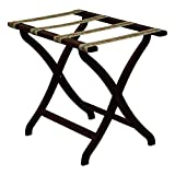 Wooden Mallet Designer Curve Leg Luggage Rack with Tapestry Webbing Mahogany by Wooden Mallet