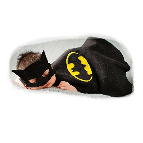 Fashion Cute Newborn Baby Boy Girl Costume Outfits Photography Props Hat Pant Batman (Newborn Baby Bat Costume)