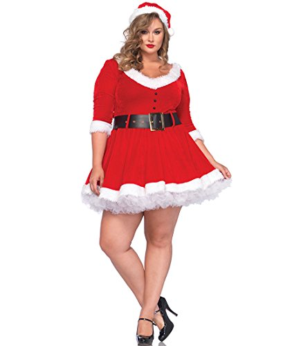 Miss Santa Plus Size Adult Costume - Plus Size 3X/4X (Mrs Santa Costumes Plus Size)